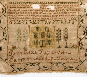 Needlework sampler, 1813 - Made by Jane Eliza Taylor