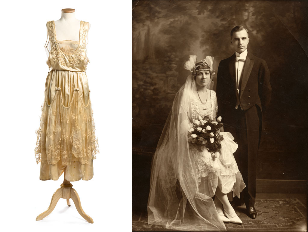 The charleston museum news and events 1920s wedding for Satin and lace wedding dresses