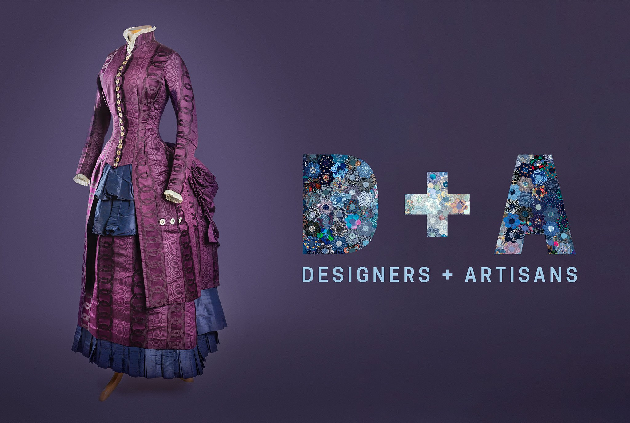 Designers and Artisans Title graphic with purple dress